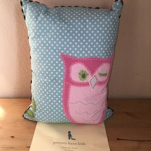 Pottery Barn Kids Brooke Collection Owl Pillow